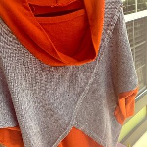 Sweaters - Orange cowl neck lightweight sweater